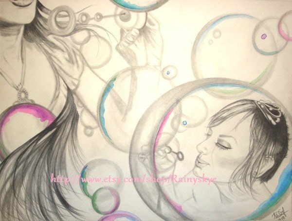 Blowing Bubbles Drawing Blowing Bubbles Original