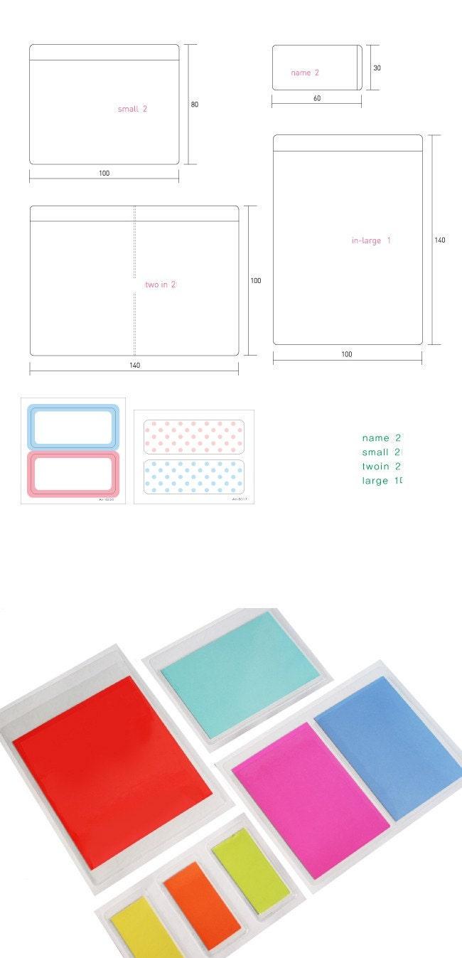 4Kinds of Transperent Pocket Sticker Pack