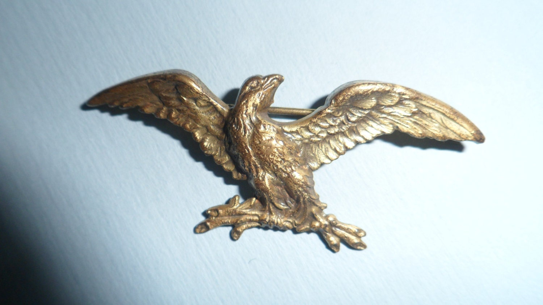 Vintage Goldtone Americana Eagle Pin
