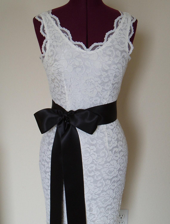 Bridal wedding dress sash belt accessories black by weegardens for Wedding dress accessories belt
