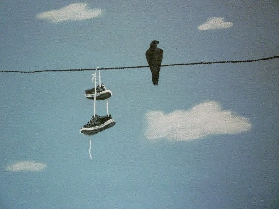 On The Wire- Giclee Archival Print 11x14 - JamiesArt
