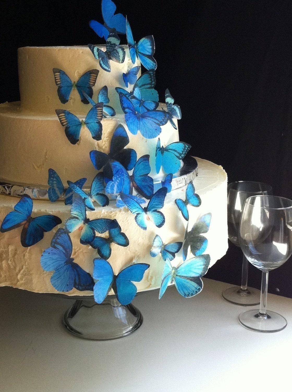 Edible Butterflies - Assorted Blue set of 30