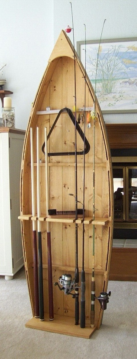 Wood Fishing Rod Rack