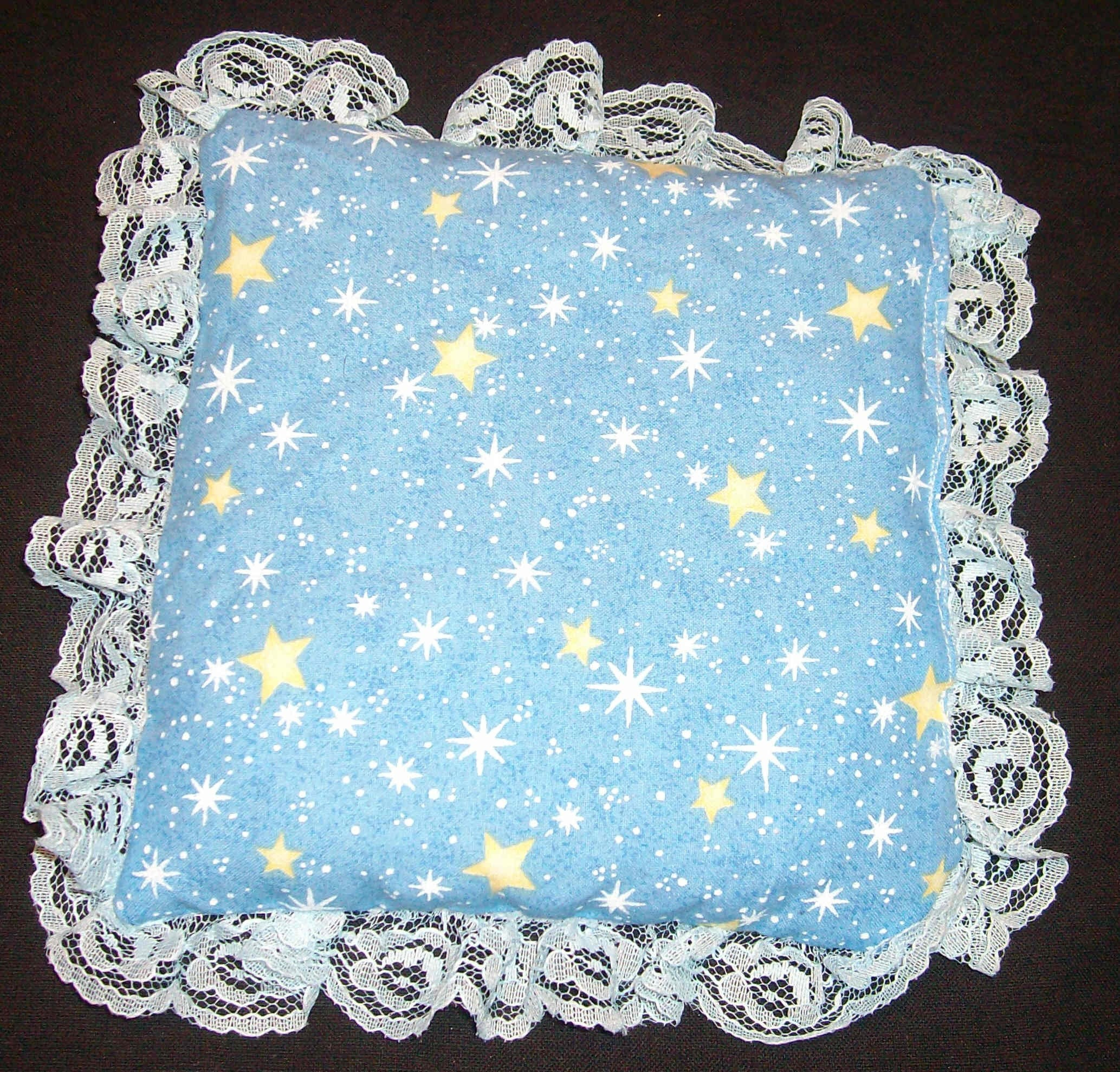 Herbal dream pillow blue with stars eye pillow herbal treatment