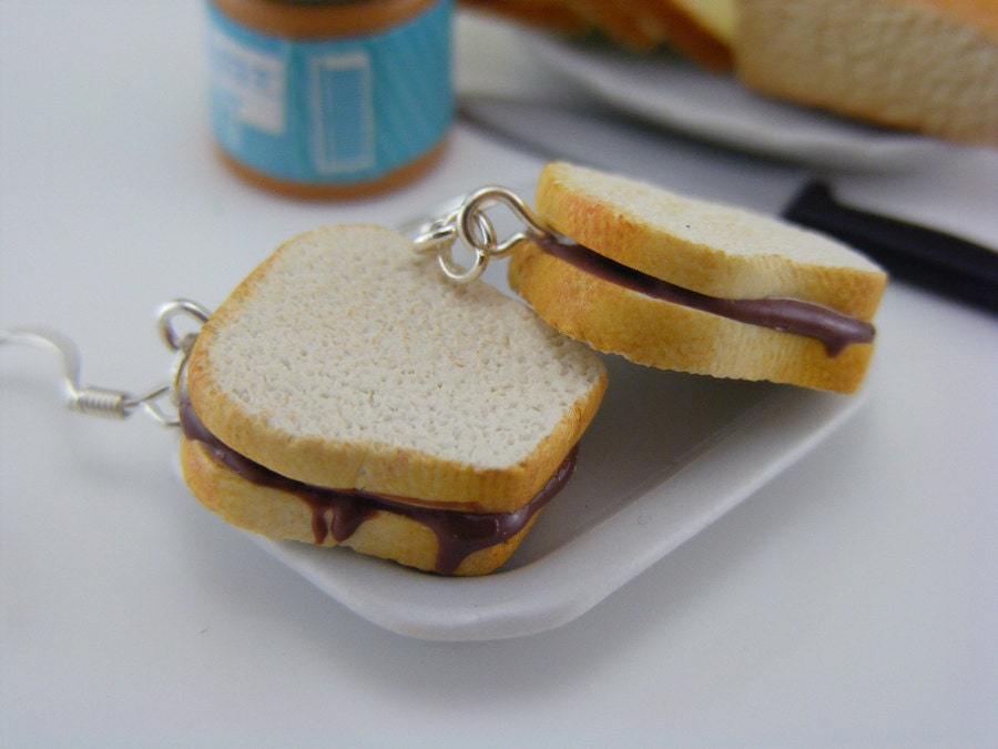 Серьги Nutella Сэндвич