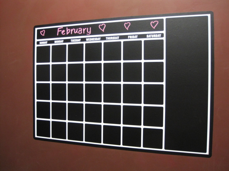 Perpetual Blackboard Chalkboard Vinyl Calendar - Awesome Product