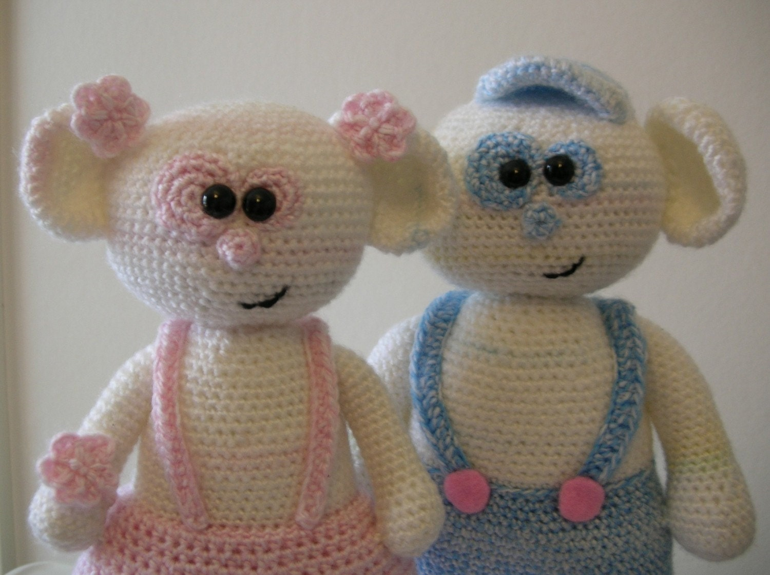 Bubbles and Bianca -2 PDF crochet patterns