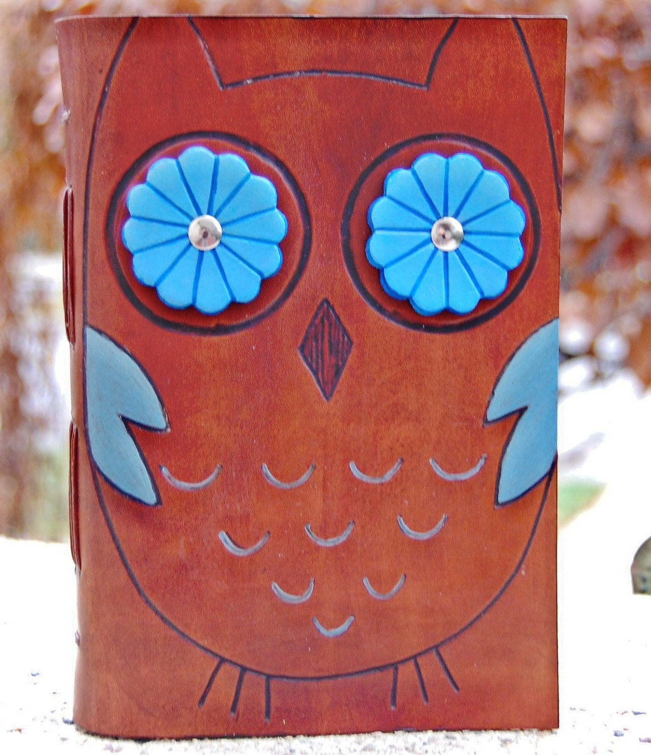 Leather Journal Book, Hoot Owl