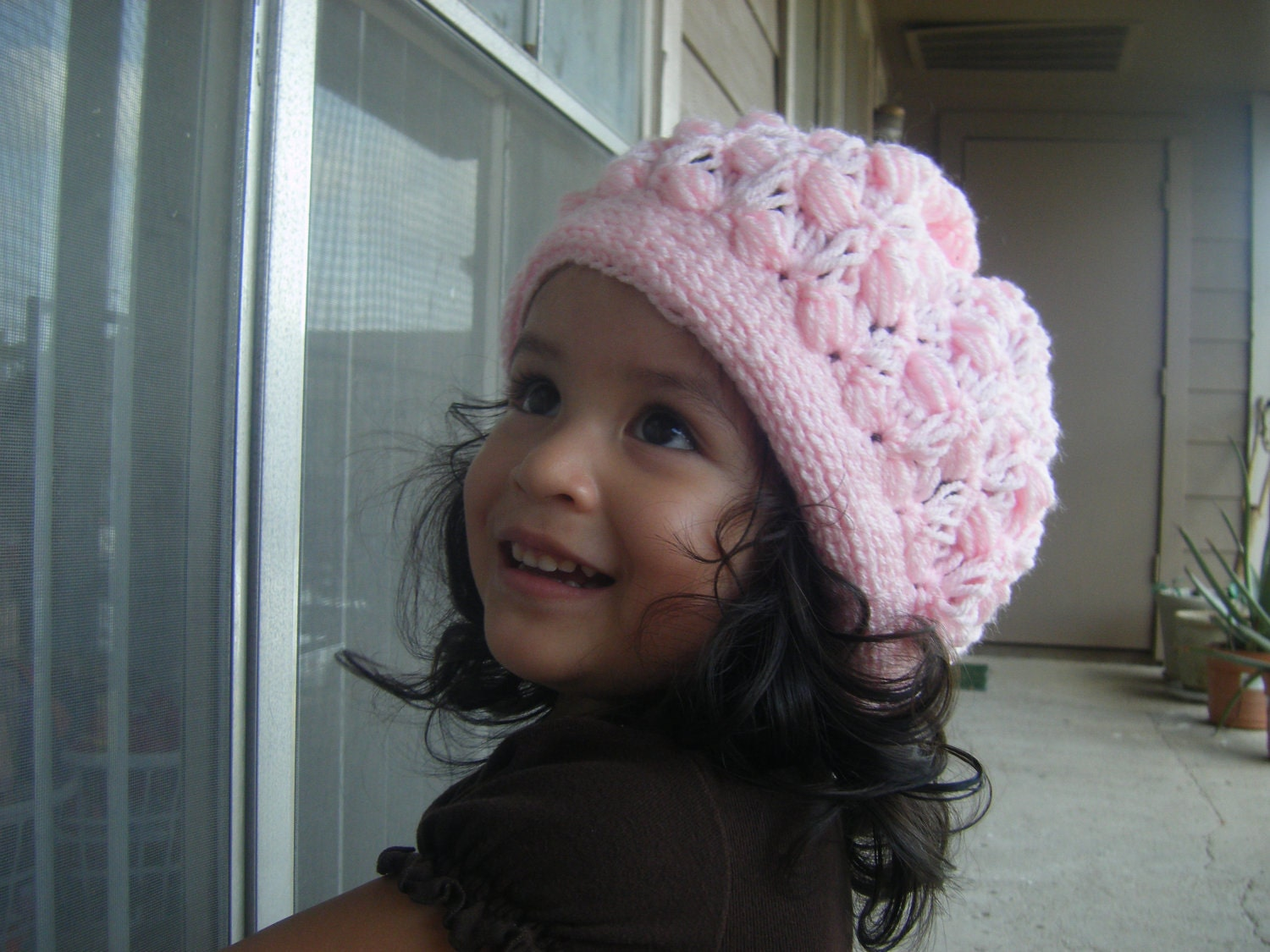 Crochet PATTERN-The Slouchy Beret (Baby, Toddler, Child, and Adult sizes) CAN SELL Finish Item