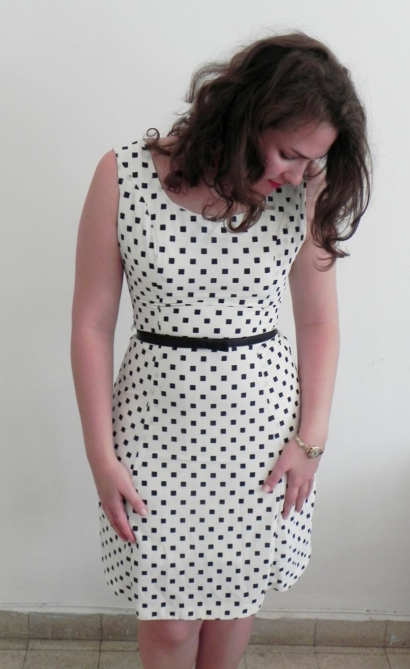 Vintage Polka Dot Mad Men Wiggle Sun Dress Mad Men - ClementinesBoutique