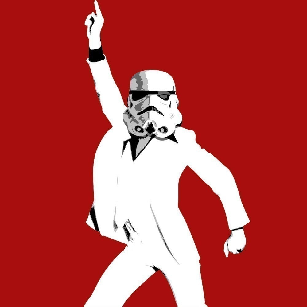 DISCO TROOPER - 8x10 Archival Giclee Print - It Might Be the Night Fever - UrbanSplendor on Etsy