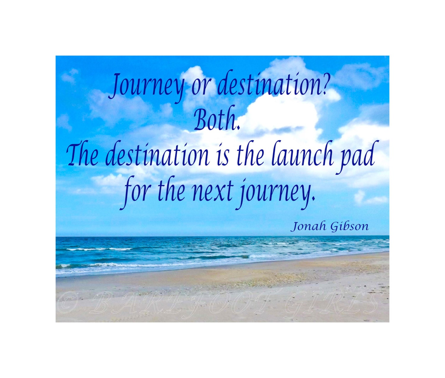 beach ocean sky scene inspirational quote by thebarefootgirls