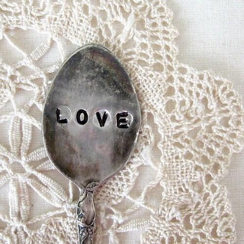 love - antique mini spoon