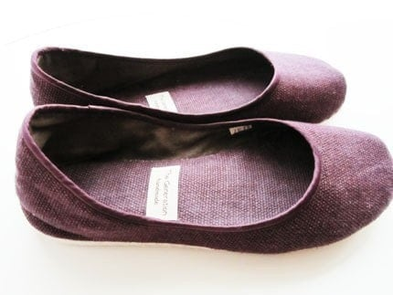 Eco-chic Ballet Flats in Purple