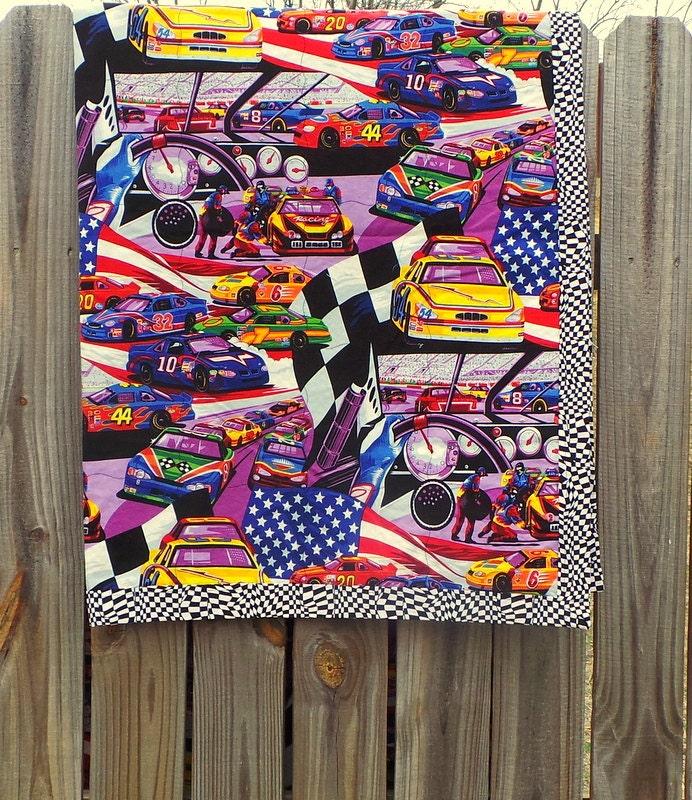 NASCAR Quilt Blanket NASCAR Toddler Bedding by ...