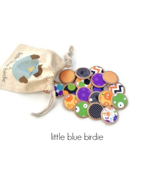 Kids Halloween Wooden Memory Matching Game-kids Party Favor-Eco Friendly Toy - thelittlebluebirdie