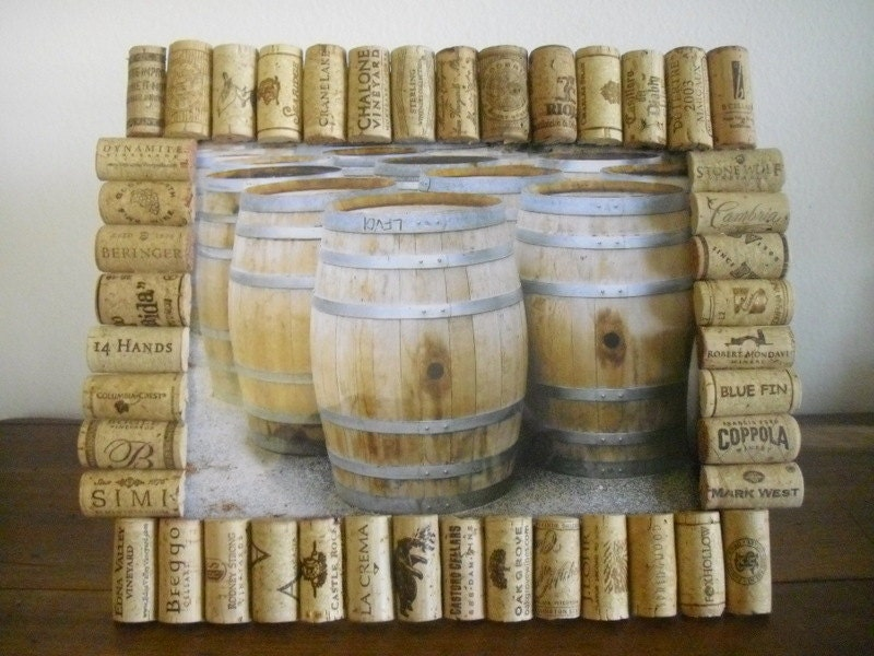 8x10 Wine Cork Picture Frame by WineCountryCrafters on Etsy