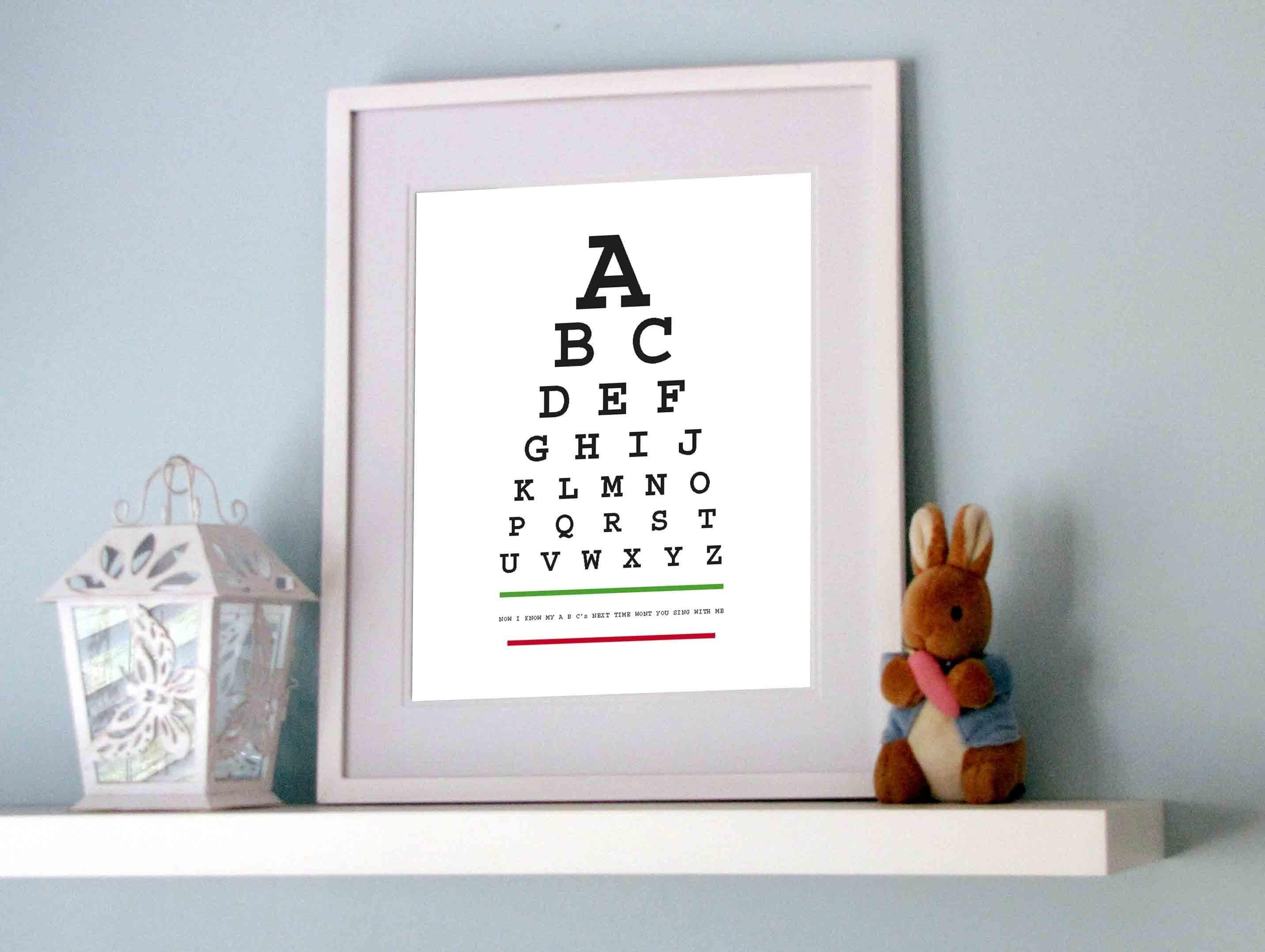 Alphabet Eye Chart