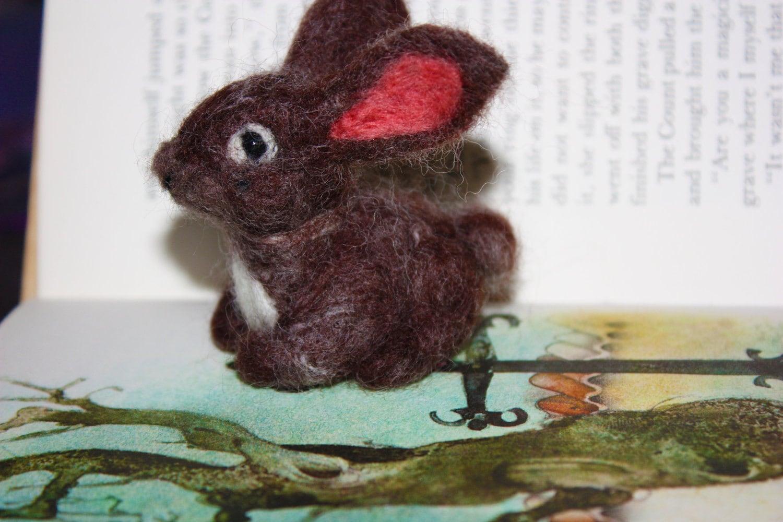 Needle felted Baby Bunny Rabbit