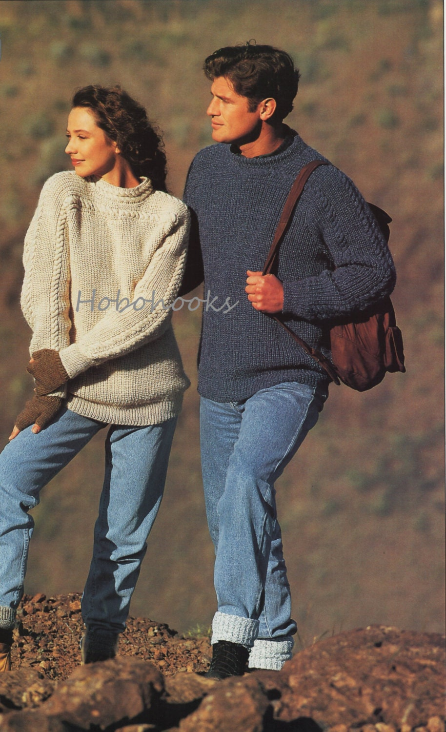 Womens knitting Pattern Mens Knitting Pattern crew neck sweater patterned ladies 2844 inch DK Unisex Knitting Pattern PDF instant download