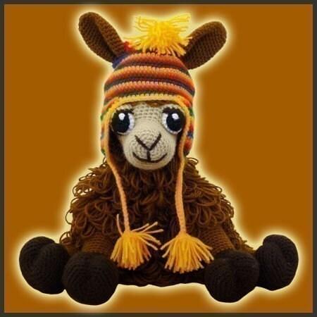 Amigurumi Crochet Pattern Coquena The Llama por ...