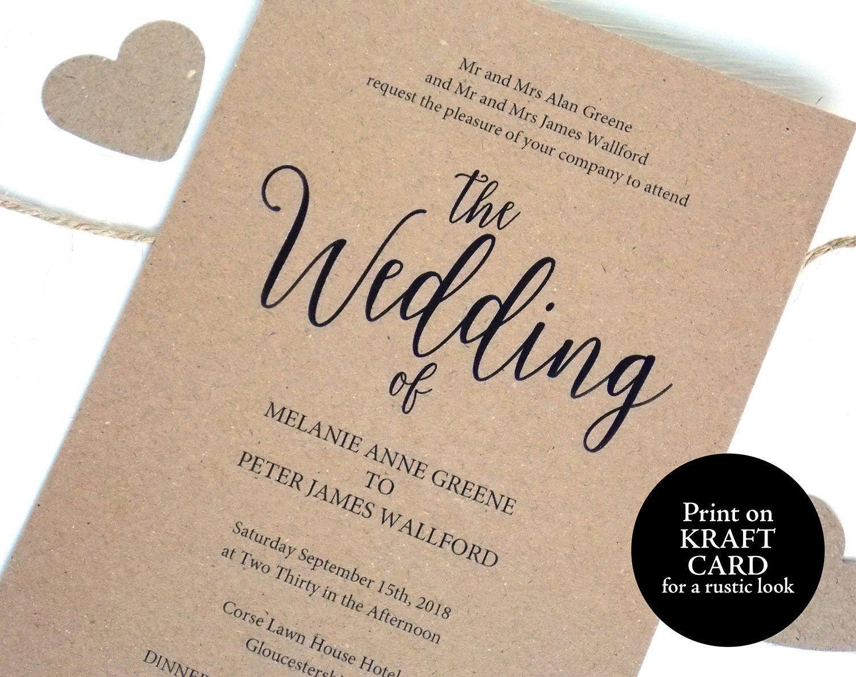 Rustic Wedding Invitation Template Printable Invitation Template Editable Wedding Invitation Rustic Invite Shabby Chic Invitation