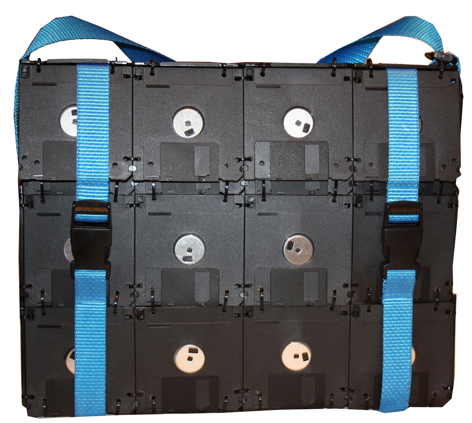 bag made from old floppydiscs