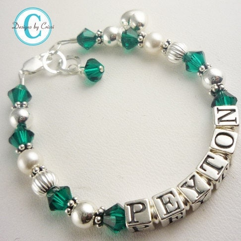 Child Baby Girl Name Bracelet Sterling silver by NameBracelets