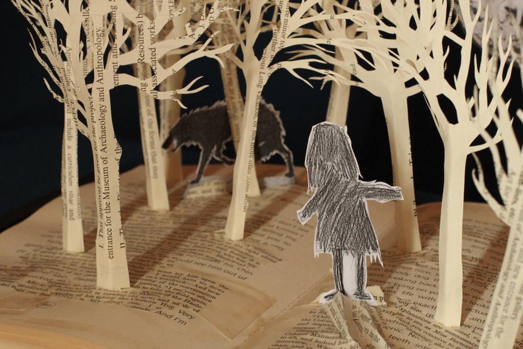 Forest of Dreams - 8x10 photograph of a Book Sculpture - daysfalllikeleaves