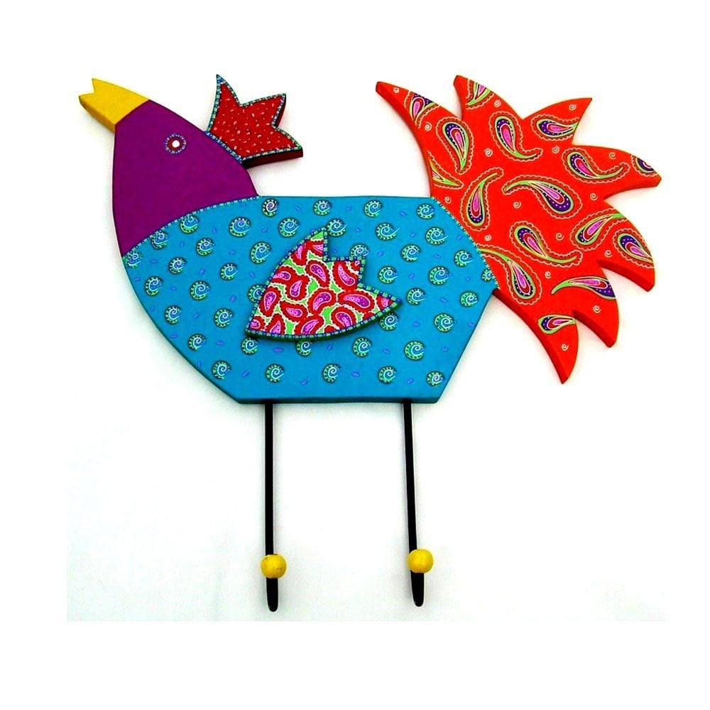 big rooster shape woodcraft  hanger 3