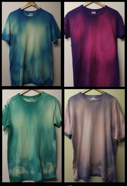 Acid Wash Tie Dye Tshirt Hipster 90s Festival Grunge Summer faded mens t shirt