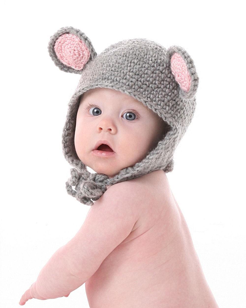 Вязание прикольных шапок для новорожденных