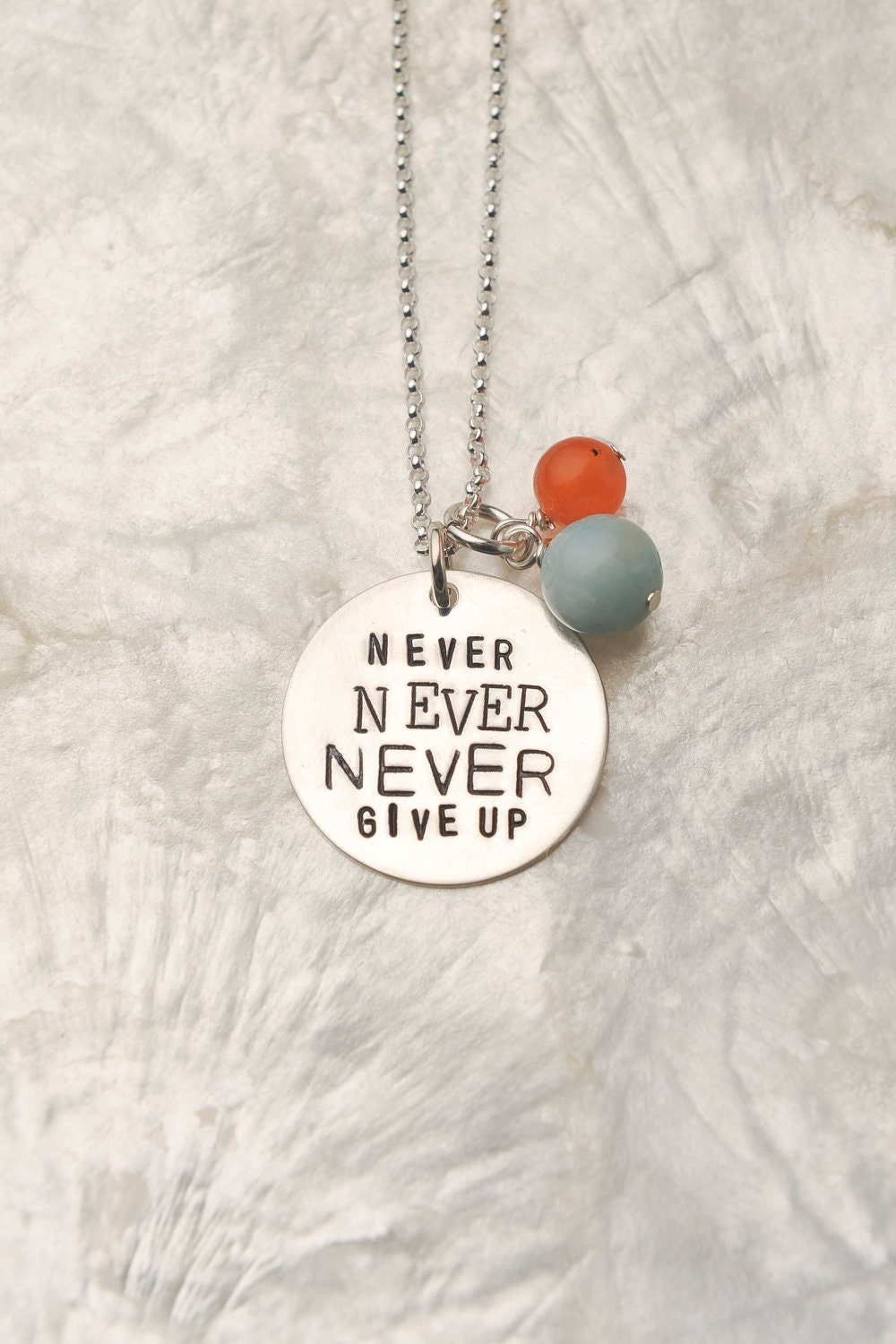 never never never give up necklace by charmedcollections1