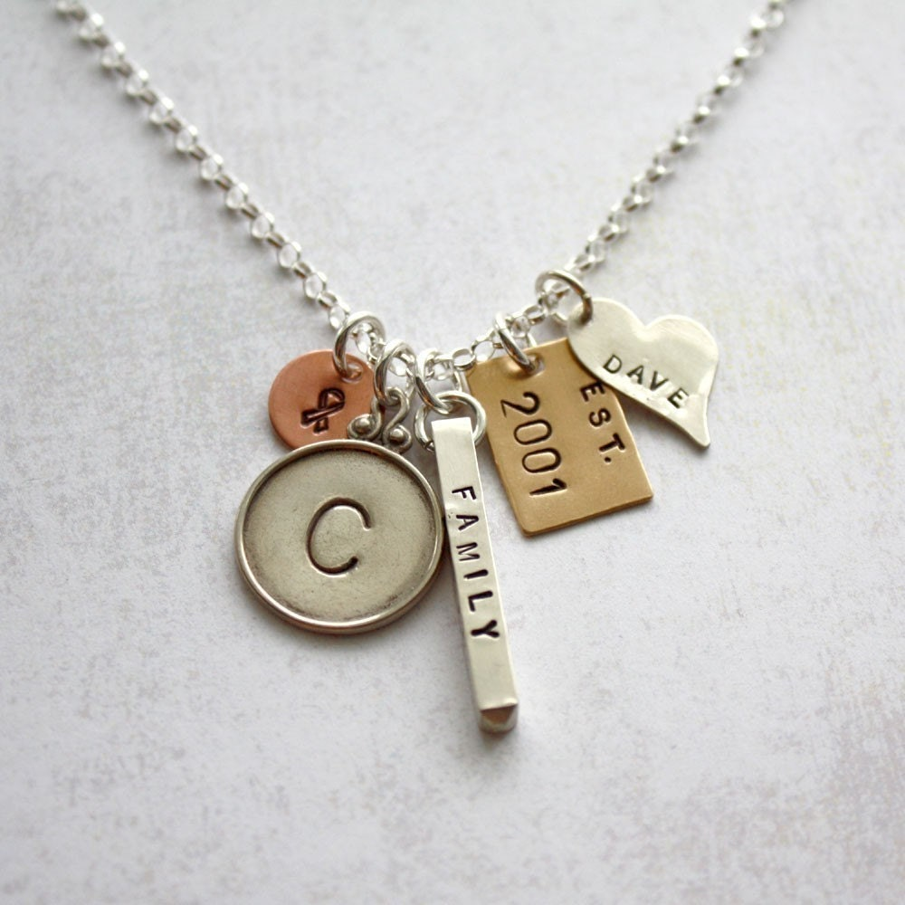 Heirloom Collection - Stamped Metals Family Memories Necklace