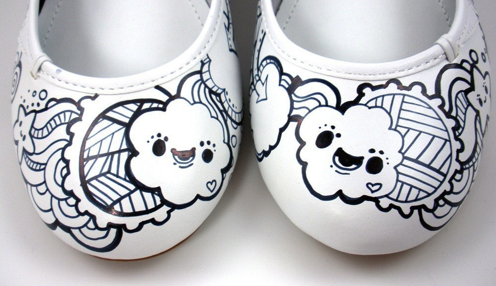 Black & White Kawaii Ballerinas