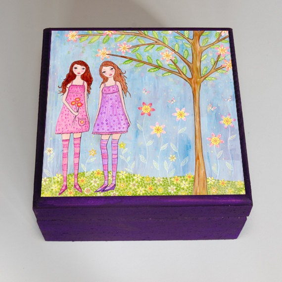 best friend jewelry box friendship trinket box gift by