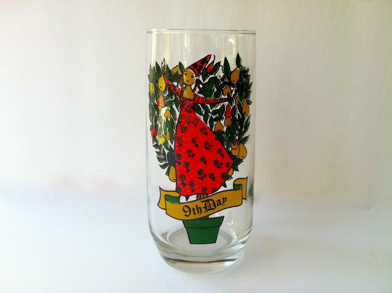 Christmas Glass 9th Day of Christmas