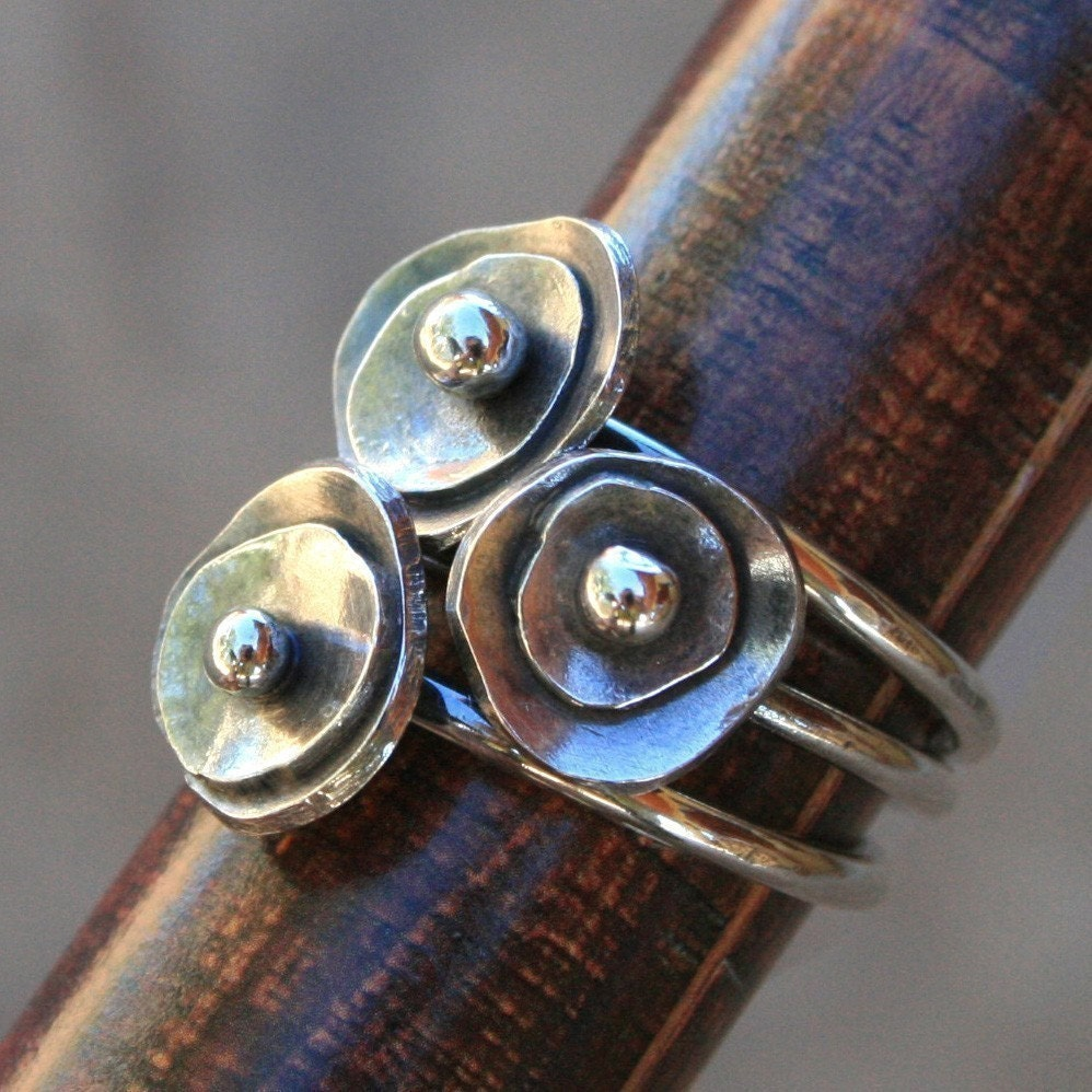 Sea Anemone Stacking Rings