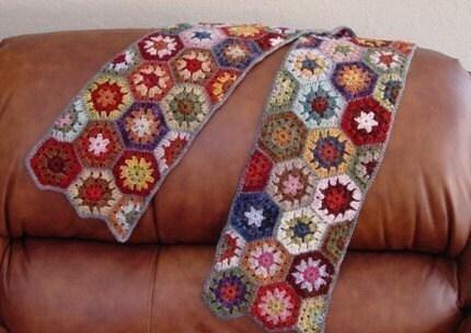 V-stitch crochet shawl – another one I made – Redhead
