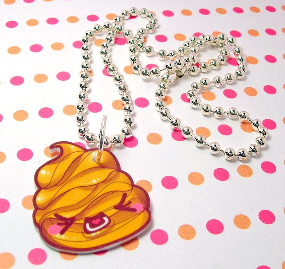Yellow Poo Necklace 18 inches