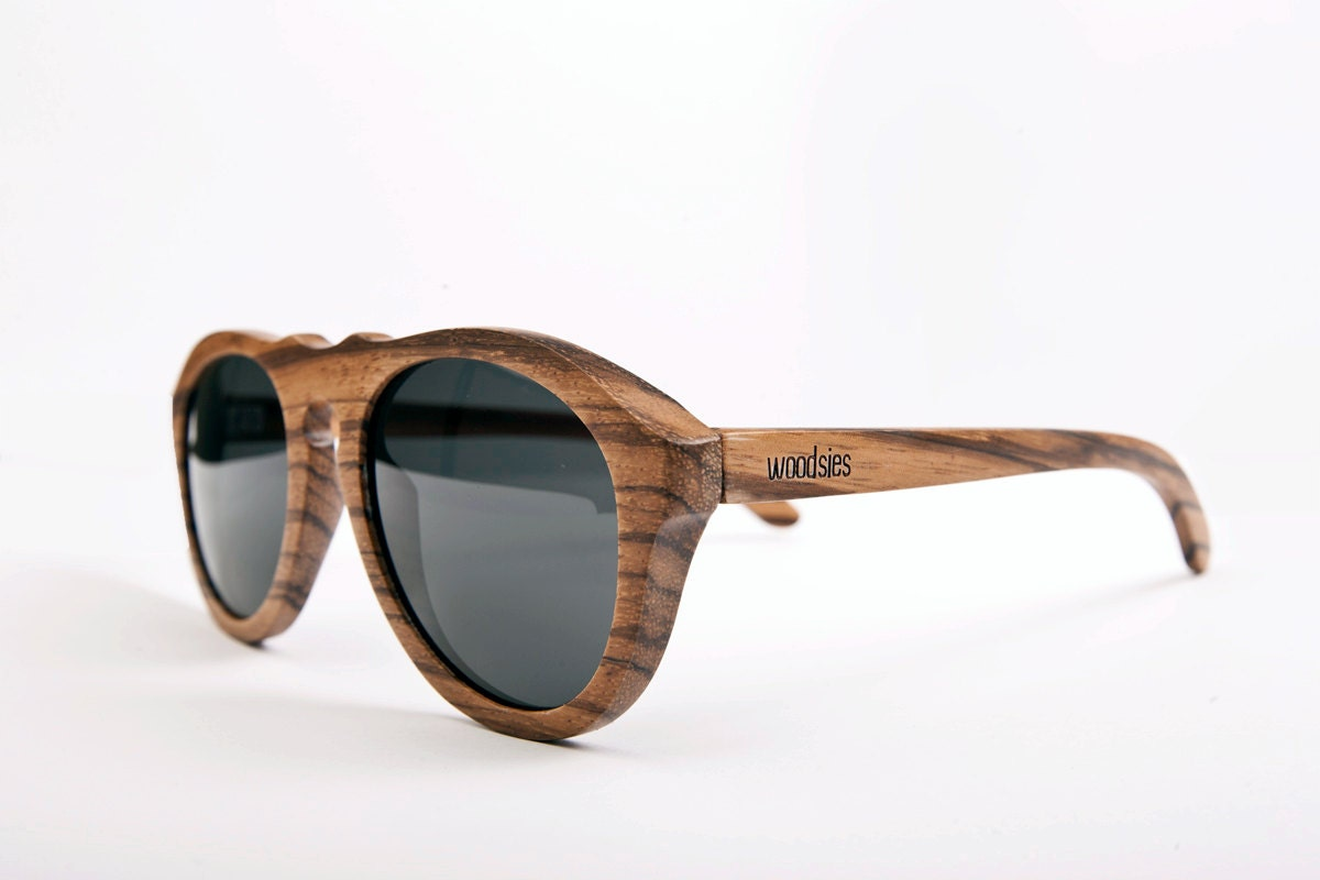 Handcrafted Wooden Sunglasses - Riley - woodsiesWoodEyewear