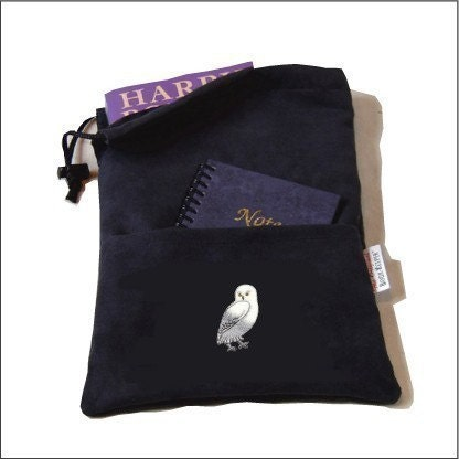 Finally a Bookbag that Actually Protects Your Books, Snow Owl (Hedwig) etsy
