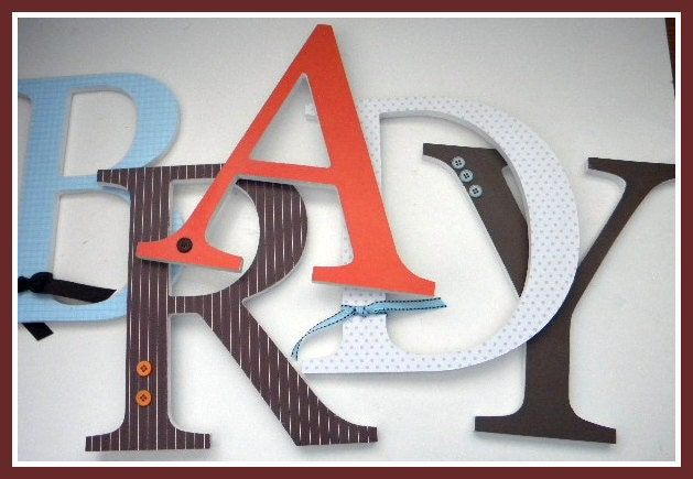Unavailable listing on etsy for 3 inch wooden letters