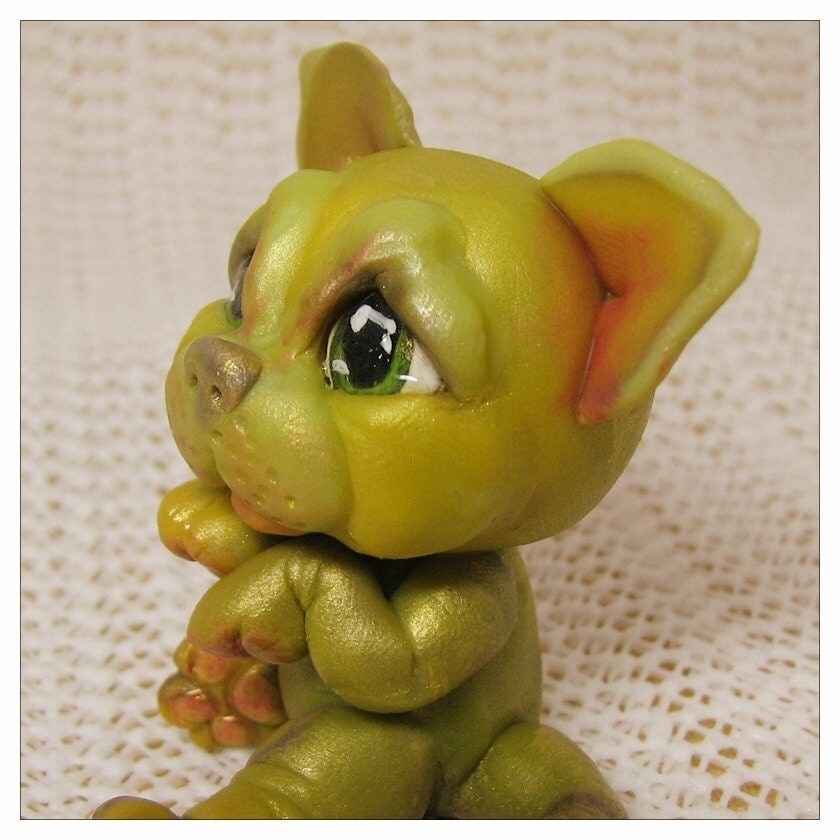 Sale Until June 4th Kawaii Chibi Creature                                                           Chibitude                                                           Figurine                                                           Polymer Clay                                                           Hand Made                                                           Kitten