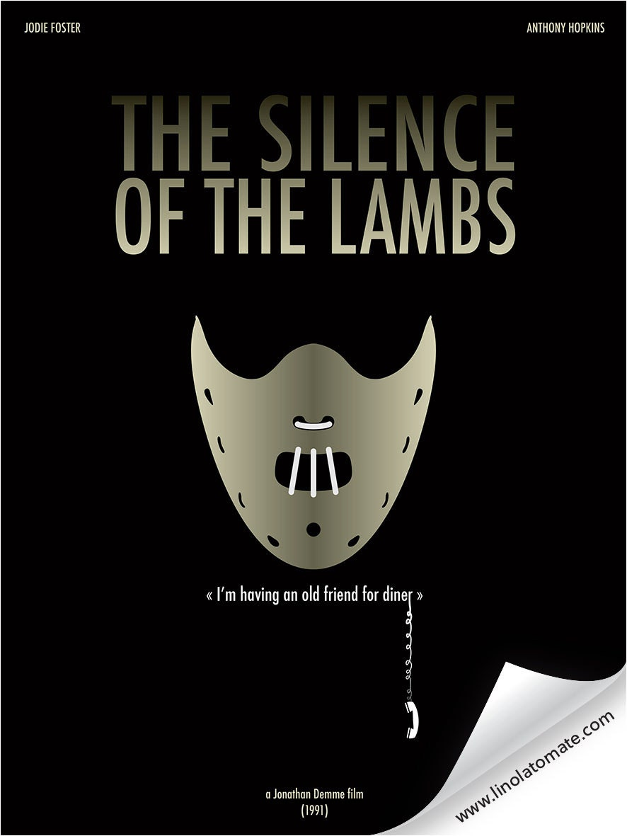 Creature on silence of the lambs movie poster