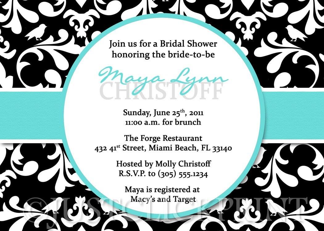bridal shower favor wording
