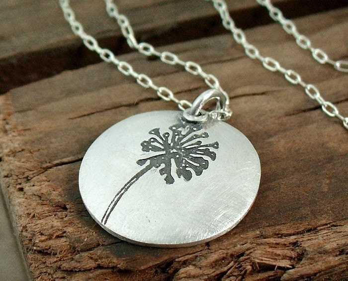 Little dandelion wish necklace by lulubugjewelry on Etsy