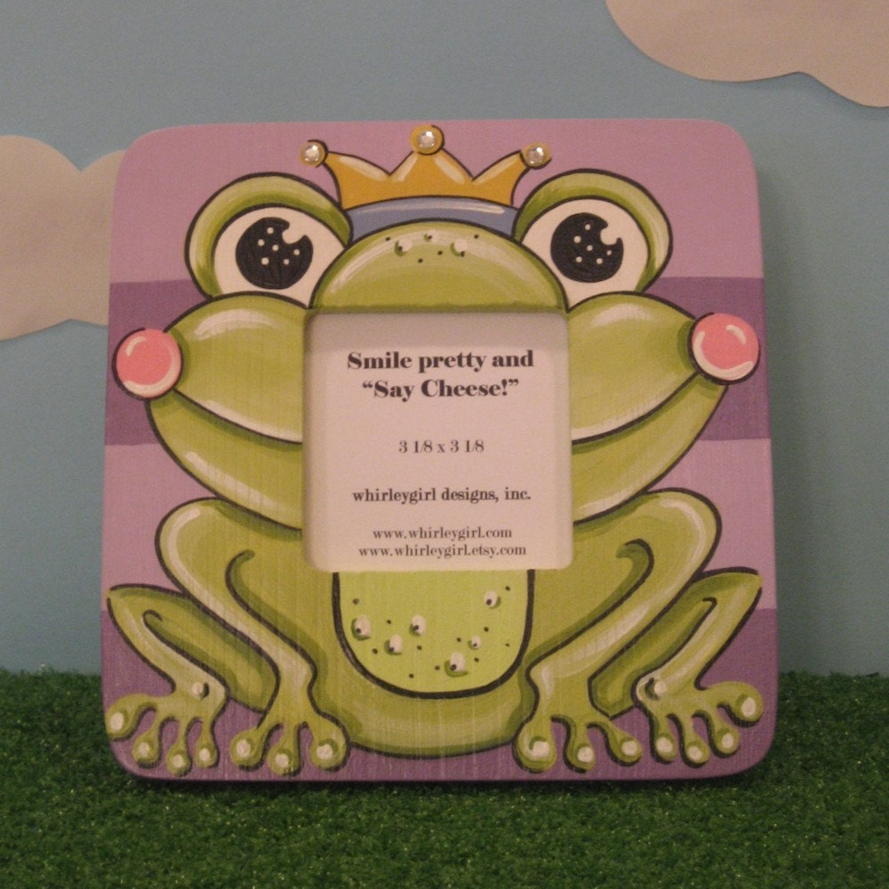 Hand Painted Prince Frog Picture Frame