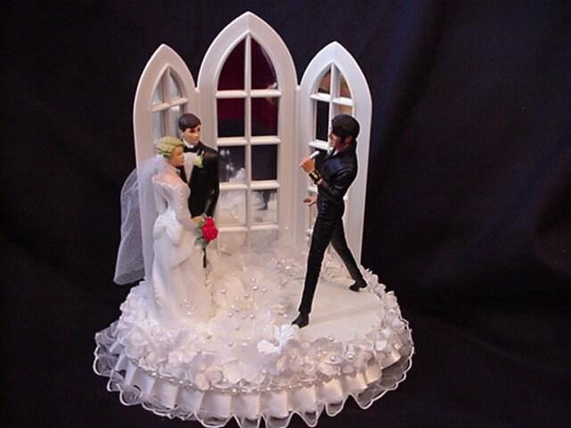 Elvis Themed Wedding Cake Topper 1968 Come Back Tour By Cinhol