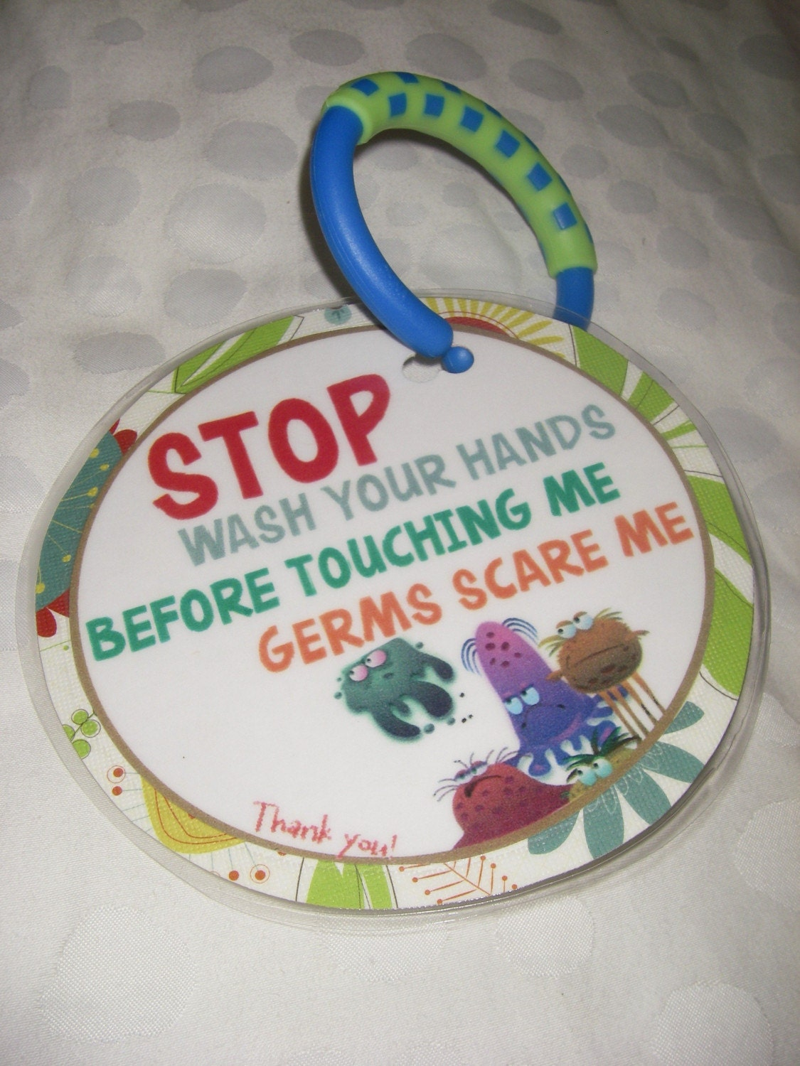 Germie Stopper Stroller or Car Seat Sign